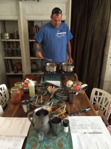 Husband taking-over the cooking