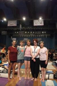 Yoga team RSA! (Me in bloomers)