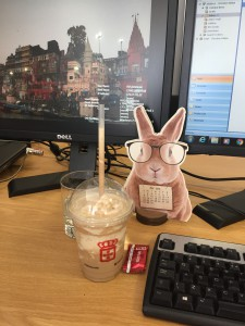 My desk....only coffee clutter